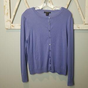 august silk PL cardigan sweater pretty purple
